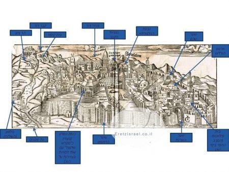 אתר ארץ ישראל, EretzIsrael.co.il, אוסף גמליאל, מפות עתיקות, ספרים עתיקים, מפה עתיקה, ירושלים,